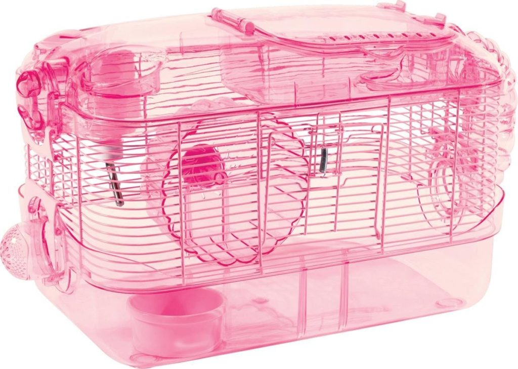 cool pink hamster cage